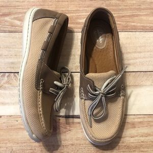 Clarks Cliffrose Sail boat shoes slip on loafers 7